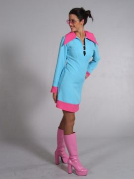 Blue/Pink Mini Dress For Sale - Blue/Pink Mini Dress (Hire Costume) | The Costume Corner