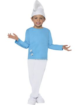 Boy Smurf For Sale - Boy Smurf Costume, Blue, Includes Top, Trousers and Hat | The Costume Corner Fancy Dress Super Store