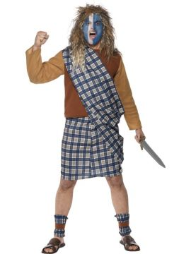 Brave Scotsman For Sale - Brave Scotsman Costume, Blue, Tartan, Top, Kilt with Sash and Leg Ties. | The Costume Corner Fancy Dress Super Store