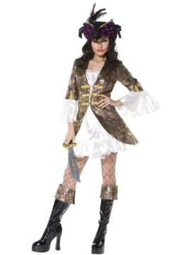 Buccaneer beauty For Sale - Fever Buccaneer Beauty Costume, Dress With Attached Jacket and Boot Cuffs | The Costume Corner Fancy Dress Super Store