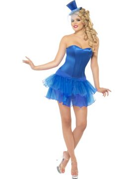 Burlesque Beauty - Blue For Sale - Blue Burlesque Beauty | The Costume Corner Fancy Dress Super Store