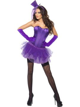 Burlesque Beauty - Purple For Sale - Purple Burlesque Beauty | The Costume Corner Fancy Dress Super Store