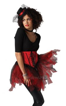 Burlesque Tutu For Sale - Black and red burlesque tutu. | The Costume Corner Fancy Dress Super Store