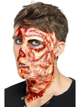 Burnt Face Scar, Latex For Sale - Burnt Face Scar, Latex, with Adhesive, on Display Card | The Costume Corner Fancy Dress Super Store