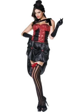 Busty Burlesque For Sale - Fever Busty Burlesque Costume, With Bodice, Skirt and hat | The Costume Corner Fancy Dress Super Store