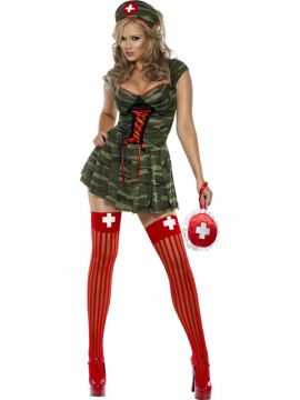 Camo Nurse For Sale - Fever Camo Nurse, Camouflage, With Dress and Hat | The Costume Corner Fancy Dress Super Store
