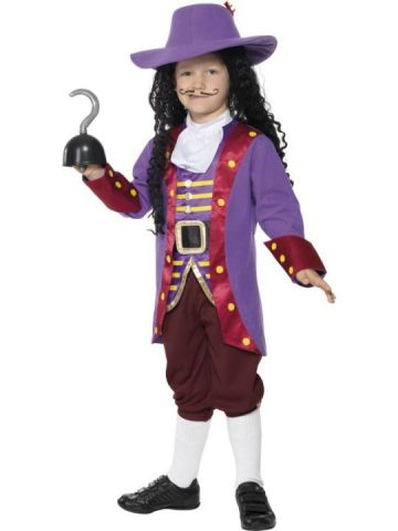 Captain Hook For Sale - Captain Hook Costume. Includes Jacket, Waistcoat, Trousers, Cravat, Hat and Hook. | The Costume Corner Fancy Dress Super Store