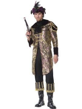 Captain Marauder For Sale - Male Captain Marauder Costume, With Jacket and Cravat | The Costume Corner Fancy Dress Super Store
