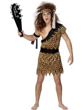 Caveman For Sale - Caveman Costume, with Tunic, Headband and Armband | The Costume Corner Fancy Dress Super Store