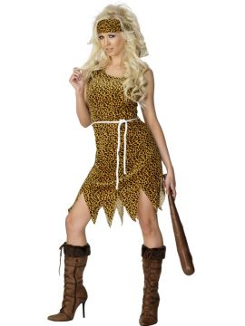 Cavewoman For Sale - Cavewoman, Brown, Velour, with Dress, Headband and Belt. | The Costume Corner Fancy Dress Super Store