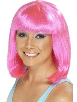 Cheerleader Wig  - Pink For Sale - Pink cheerleader wig. | The Costume Corner Fancy Dress Super Store