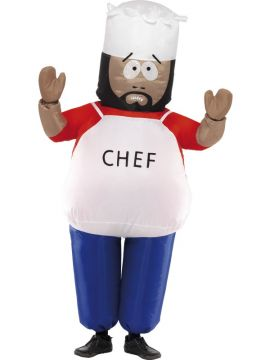 Chef For Sale - South Park Chef Costume, With Inflatable Suit and Gloves | The Costume Corner Fancy Dress Super Store