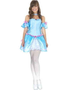 Cinderella For Sale - Teen Rebel Toons Cinderella Costume. Includes blue dress with matching sleeves and choker. | The Costume Corner Fancy Dress Super Store
