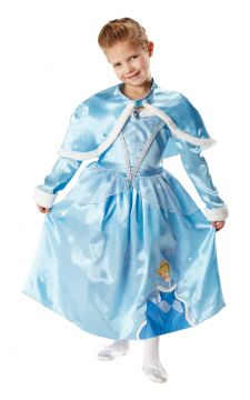 Cinderella For Sale - Shimmy out in this lovely Cinderella dress and banish the winter blues away! Trimmed with soft and fluffy faux fur edges - to the sleeves and cape - and finished in Cinders' fa... | The Costume Corner Fancy Dress Super Store