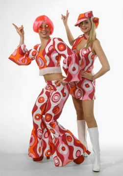 Circle Print two Piece For Sale - Circle Print two piece and dress. (Hire Costume) | The Costume Corner