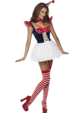 Clown-Cutie For Sale - Fever Clown Cutie Costume, With Dress, Hat, Bow-Tie and Panties | The Costume Corner Fancy Dress Super Store