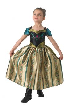 Coronation Anna For Sale - The star of Disney's Frozen never looked so elegant as in this dress she wore to Elsa's coronation. Will you be swept away by a Prince at the coronation ball, or be pestered by... | The Costume Corner Fancy Dress Super Store
