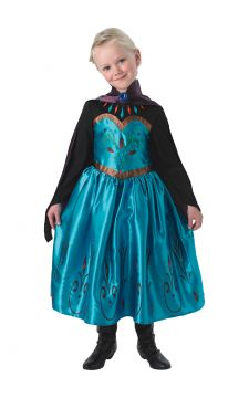Coronation Elsa For Sale - Imagine yourself as Frozen's ice queen at her coronation! Dress up in Elsa's lavish coronation dress from the Disney movie, complete with purple cape, sweetheart bodice and lux... | The Costume Corner Fancy Dress Super Store