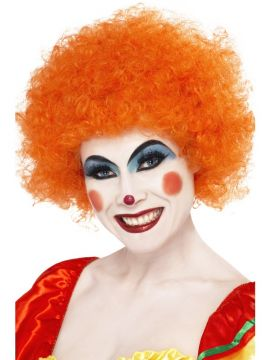Clown Wig - Orange For Sale - Crazy Clown Wig, Orange | The Costume Corner Fancy Dress Super Store