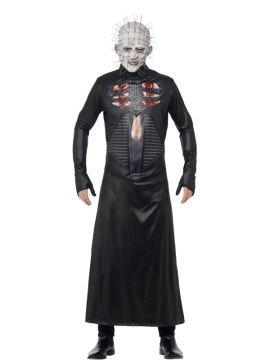 Creepy Mens Pinhead Halloween Costume For Sale - Includes Printed Tunic and Mask | The Costume Corner Fancy Dress Super Store
