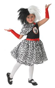 Cruella For Sale - Fashionista Cruella De Vil would have approved of this dotty regalia! Best not worn around any puppy dogs, this 101 Dalmatians number will part a crowd anywhere you wear it. Ju... | The Costume Corner Fancy Dress Super Store