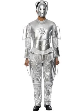 Cyberman For Sale - Doctor Who Cyberman Costume, Silver, With Jumpsuit and Mask | The Costume Corner Fancy Dress Super Store