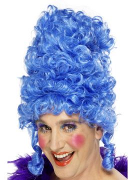 Dame Wig For Sale - Blue Dame Wig | The Costume Corner Fancy Dress Super Store
