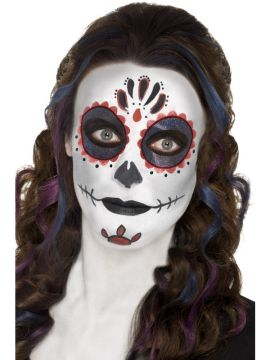 Day of the Dead Make-up Kit For Sale - Includes Face Paints, Face Tattoo, Gem Stickers, Crayon and Applicators | The Costume Corner Fancy Dress Super Store