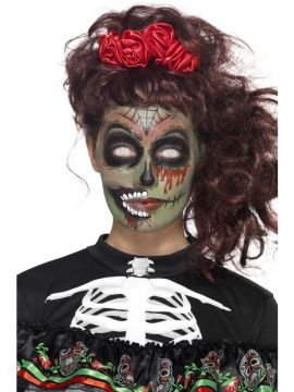 Day of the Dead Make-up Set For Sale - Includes Transfers, Face Paint, Crayon & Applicators | The Costume Corner Fancy Dress Super Store