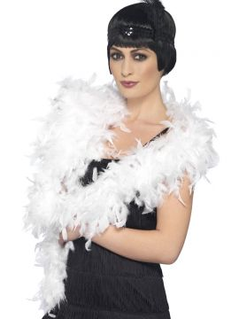 Deluxe Boa For Sale - Deluxe Boa, White, Feather, 180cm, 80g, on Display Card | The Costume Corner Fancy Dress Super Store