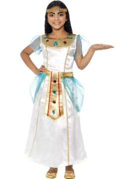 Deluxe Cleopatra For Sale - Girls will have hours of fun transforming into the famous Egyptian goddess in the Deluxe Cleopatra Girl Costume. With a dress and headpiece, add some Smiffys Make-Up FX face pa... | The Costume Corner Fancy Dress Super Store