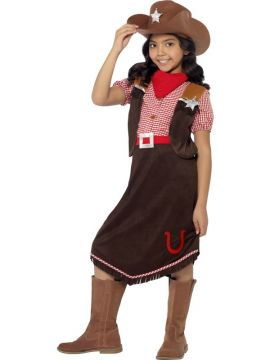 Deluxe Cowgirl For Sale - Yee-haw! Ride 'em cowgirl! Girls will love dressing up in the Smiffys Deluxe Cowgirl Costume. Complete with a top, skirt, hat and necktie, they're guaranteed to loo... | The Costume Corner Fancy Dress Super Store