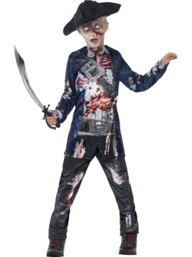 Jolly Rotten Pirate Deluxe For Sale - Ooh argh, me hearties! This is one pirate that's walked the plank a few times! The Deluxe Jolly Rotten Pirate Costume is complete with trousers, a top with sublimation pr... | The Costume Corner Fancy Dress Super Store