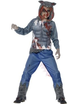Wolf Warrior Deluxe For Sale - This is one costume guaranteed to strike fear into fellow party goers! The Deluxe Wolf Warrior Costume is complete with a hooded top with sublimation print and trousers; just a... | The Costume Corner Fancy Dress Super Store