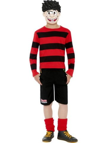 Dennis the Menace For Sale - Dennis The Menace Costume. Includes Red and Black Top, Shorts and Mask. | The Costume Corner Fancy Dress Super Store
