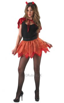 Devil Tutu Set For Sale - Adult devil tutu set. Includes: skirt, mini cape and horns headband. | The Costume Corner Fancy Dress Super Store