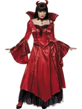 Devil Temptress For Sale - Devils Temptress, with Dress, Choker and Headband | The Costume Corner Fancy Dress Super Store