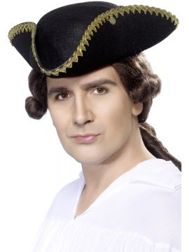 Dick Turpin Tricorn Hat For Sale - Dick Turpin Tricorn Hat, Felt, on Display Card | The Costume Corner Fancy Dress Super Store