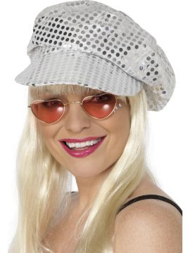 Disco Sequin Hat For Sale - Disco Sequin Hat, Silver | The Costume Corner Fancy Dress Super Store