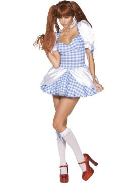 Dorothy For Sale - Rebel Toons Ladies Dorothy Costume, With Dress, Knee-High Socks and Choker | The Costume Corner Fancy Dress Super Store