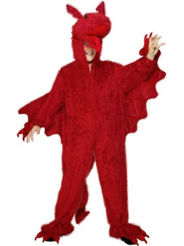 Dragon For Sale - Red dragon Costume. Includes all in one red suit with hood. | The Costume Corner Fancy Dress Super Store