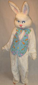 Easter Bunny Mascot For Sale - White Easter Bunny Mascot | The Costume Corner