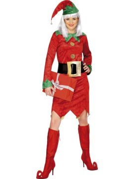 Elf For Sale - Elf Costume, Female, With Dress, Hat and Belt | The Costume Corner Fancy Dress Super Store