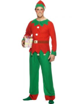 Male Elf For Sale - Elf Costume, with Top, Trousers and Hat | The Costume Corner Fancy Dress Super Store