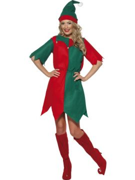 Elf For Sale - Elf Costume, with Hat and Tunic with Bells and Drawstring Waist. | The Costume Corner Fancy Dress Super Store