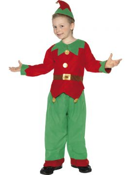Elf For Sale - Elf Costume, Unisex Child, with Tunic, Trousers and Hat with Bell | The Costume Corner Fancy Dress Super Store