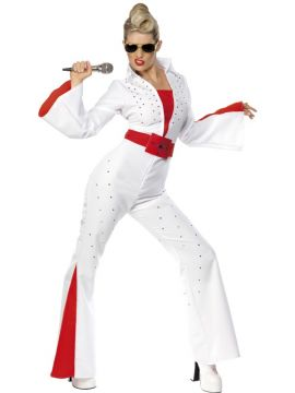 Elvis Jumpsuit For Sale - Elvis Costume, Female, With Jumpsuit and Belt | The Costume Corner Fancy Dress Super Store