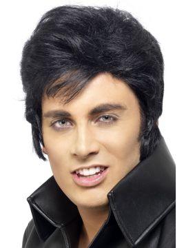 Elvis Wig For Sale - Elvis Wig, Black, in Display Box | The Costume Corner Fancy Dress Super Store