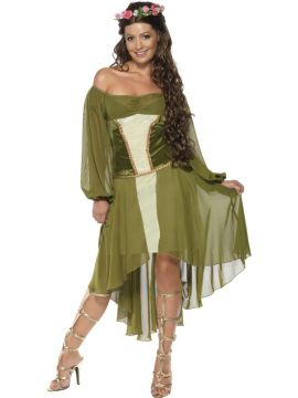 Fair Maiden For Sale - Fair Maiden Costume, Green, with Dress and Hair Wreath | The Costume Corner Fancy Dress Super Store