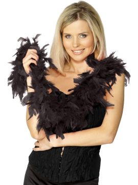 Feather Boa - Black For Sale - Black Feather Boa, 150cm | The Costume Corner Fancy Dress Super Store